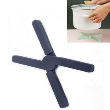 2 PCS Verdikt x-vormig Siliconen opvouwbare potmat keuken warmte-isolatie maaltijd coaster hoge temperatuur tafelmat (Donkergrijs)