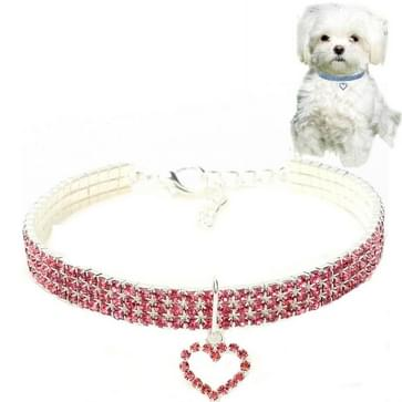 2 PCS Pet Supplies Elastic Love Cats and Dogs Accessoires Pet Collars  Size:S(Pink)