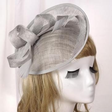 Bruidshoofddeksels Retro Style Linnen hoed (Zilvergrijs)