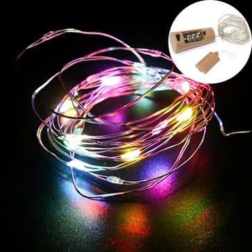 10 PCS LED Wine Bottle Cork Koperdraad Licht IP44 Waterdichte Vakantie Decoratie Lamp  Style:1m 10LEDs (Kleurrijk Licht)
