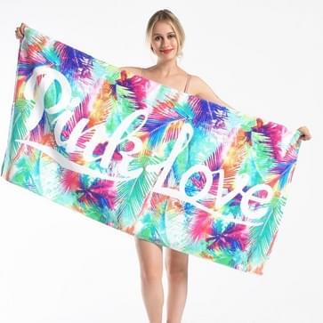 Bedrukte zachte badhanddoek volwassen katoenen strandkussen handdoek grootte: 147x71cm (Palmblad KS-8)