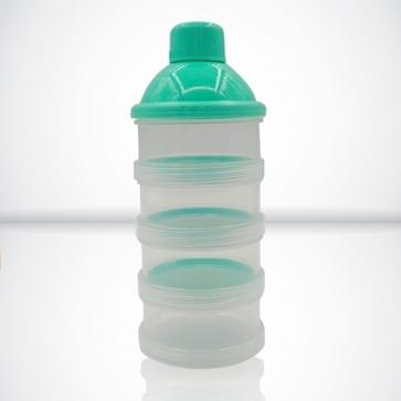 Draagbare melkpoeder formule dispenser voedsel container opslag Feeding box voor baby (groen)