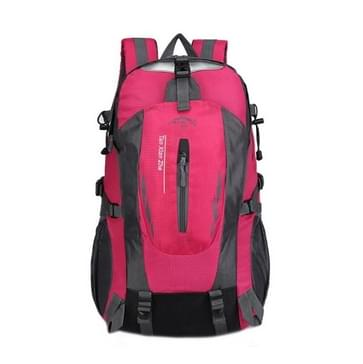 Large-capacity Travel Mountaineering Bag Men and Women Outdoor Sports Leisure Nylon Waterproof Backpack(Pink)