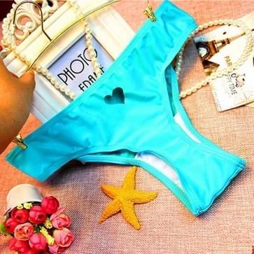 2 PCS Heart Beachwear Bikini Bottom Sexy Swimwear Pants  Size:L(Lake Blue)
