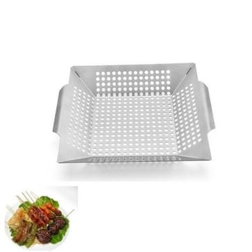 Roestvrijstalen vierkante grill lek lade met hole grill tray outdoor grill tool BBQ groenten 12 inch Grill Tray