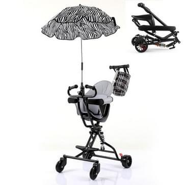 One-click Folding Baby Kinderwagen  Kleur: Black1 Umbrella Cushion Basket