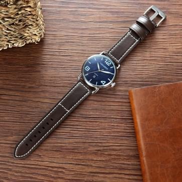 CAGARNY 6815 levende waterdicht ronde Dial Quartz beweging legering behuizing Fashion horloge Quartz horloges met lederen Band(White)