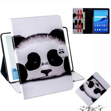 Panda Pattern Horizontal Flip Leather Case for Huawei MediaPad T5  with Holder & Card Slot & Wallet