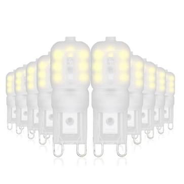 YWXLight 10PCS G9 14LEDs AC 110-130V AC 220-240V 4W 2835SMD LED Double Needle Energie Saving Corn Light (Color:220V Size:Cold White)