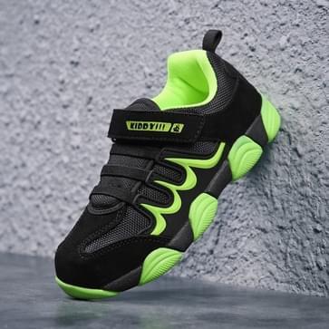 Simple Tide Soft en Comfortabele kleur bijpassende casual schoenen voor kinderen (Kleur: Zwart Groen Formaat: 29)