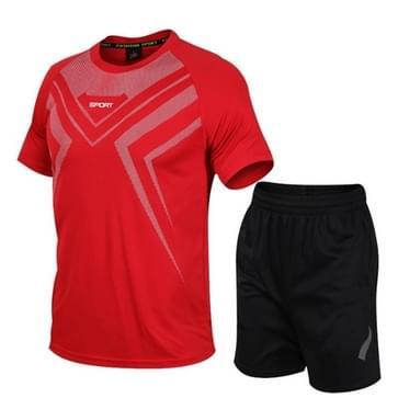 Casual Sport Fitness Pak Sneldrogende Kleding (Kleur: Rood formaat: XXXL)