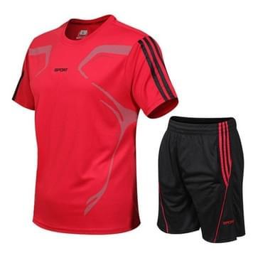 Mannen Sports Fitness Suits Running Casual Sneldrogen (Kleur: Rood formaat: XXXXXL)