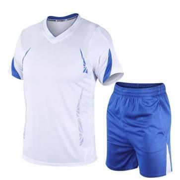 Mannen running Fitness Sports Suit Sneldrogen (Kleur: Wit Maat: M)