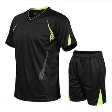 Mannen Running Fitness Sports Suit Sneldrogende Kleding (Kleur: Zwart Formaat: XXXL)