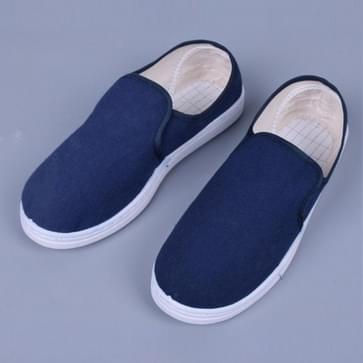 Ademend canvas stofvrije antistatische PVC-zoolschoenen (kleur:marineblauwe maat:37)