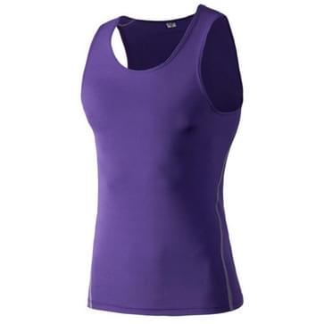Fitness Running Training Tight Quick Dry Vest (Kleur: Paars formaat: L)