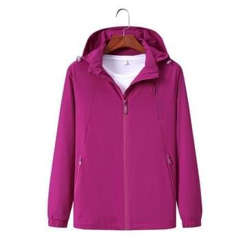 Ladys Outdoor Elastic Single Layer Stormsuit Breathable Windproof Couple Mountaineering Suit (Kleur: Paars rood formaat: XXXL)