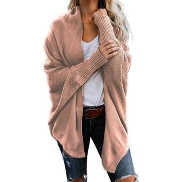 Sweater Cardigan Sweater Coat (Kleur: Roze maat: Gratis maat)