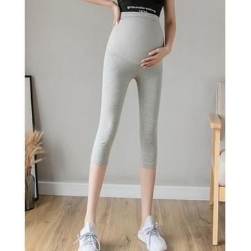 Zomer dunne moederschap yoga joggingbroek bodem bijgesneden broek voor uiterlijke slijtage (kleur: licht grijs formaat:XXL)