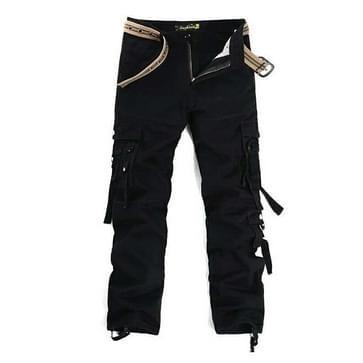 Mannen Multi-pocket Outdoor Casual Overalls (Kleur: Zwart Formaat: 32)