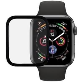 9H 3D volledig scherm getemperd glas Film voor Apple Watch serie 4 44mm (zwart)