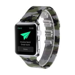 Afdrukken van Milaan stalen pols horloge Band voor Apple Watch serie 3 & 2 & 1 38mm (Camouflage leger groen)