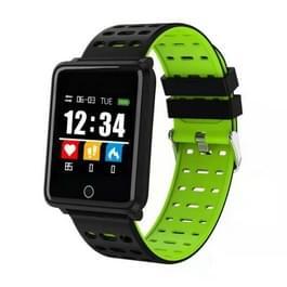 F2 1,44 inch kleuren scherm slimme Armband Bluetooth 4.0, Support informatie Push/hartslag monitor /Blood Pressure Monitor /Blood zuurstof Monitor/stappenteller (groen)
