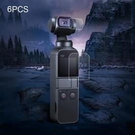 De beschermer van de Lens van de 6 stuks + scherm getemperd glas Film voor DJI OSMO Pocket Gimbal
