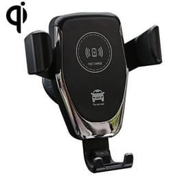 Air Outlet beugel draadloze oplader Qi standaard draadloze autolader (zwart)