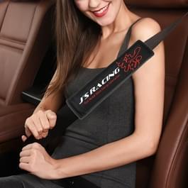 JS race auto veiligheid cover Strap veiligheidsgordel schouder beschermer (zwart)