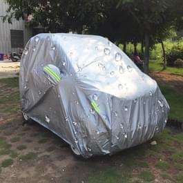 PEVA waterdichte zon auto dekken stofdicht regen sneeuw beschermen dekken auto beschermmateriaal met waarschuwing Strips voor Smart  past auto