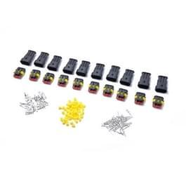 10 sets 3 pins manier verzegeld waterdichte elektrische draad connector plug Terminal auto auto set