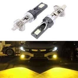 2 stuks H1 DC12V-24V/12W/3000K/800LM 12LEDs SMD-3030 auto LED Mistlamp (geel licht)