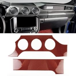 2 in 1 auto Carbon Fiber dashboard cover panel decoratieve sticker voor Ford Mustang