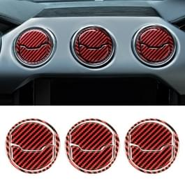 9 in 1 auto Carbon Fiber centrale luchtuitlaat frame decoratieve sticker voor Ford Mustang