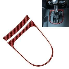2 in 1 auto Carbon Fiber Gear frame decoratieve sticker voor Ford Mustang