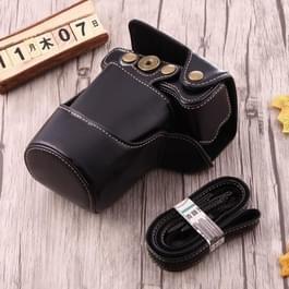 Full Body Camera PU lederen Case tas met riem voor Canon EOS M3 (zwart)