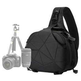 CADEN K2 Triangle Shape Tscope slinger Cross Digitale Camera schoudertassen hoesje zachte tas met regen dekken voor Canon Nikon Sony Afmeting: 33*24*17cm(zwart)
