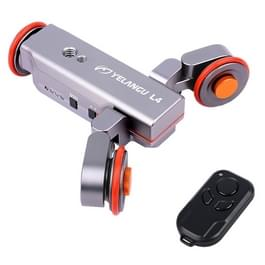 YELANGU L4 Camera 3-wiel Dolly II elektrische Track Slider 3-wiel Video katrol rollen Dolly auto met afstandsbediening voor DSLR / Home DV-camera