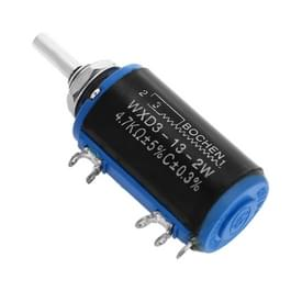 WXD3 - 13 - 2W 4.7K Ohm  Multiturn Precision Potentiometer -Black