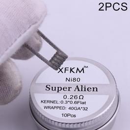 2 dozen XFKM NI80 Super Alien vooraf gebouwde spoelen elektronische sigaret RDA RTA RBA verstuiver verwarming draad