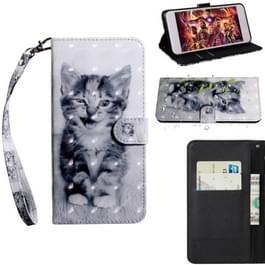3D-schilderij patroon gekleurde tekening horizontale Flip TPU + PU lederen draagtas met houder & kaartsleuven & portemonnee voor iPhone 6/6S (Smile Cat)