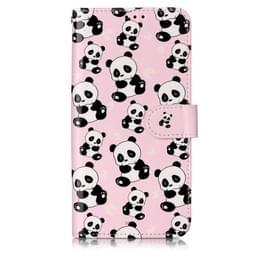 Olie reliëf gekleurde tekening patroon horizontale Flip PU lederen draagtas met houder & kaartsleuven & portemonnee & fotolijstjes voor Xiaomi Redmi 7 (Pandas)