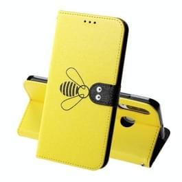 Voor Huawei P30 Lite Silk Texture Bee patroon horizontale Flip lederen draagtas met houder & kaartsleuven & portemonnee & fotolijstjes (geel)
