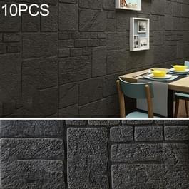 10 stuks creatieve 3D baksteen patroon muur stickers behang decoratie  grootte: 70 x 70cm (donkergroen)