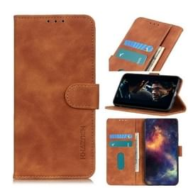 Voor Wiko Y50/Sunny 4 retro textuur PU + TPU horizontale Flip lederen draagtas met houder & kaartsleuven & portemonnee (bruin)
