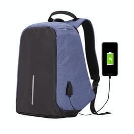 Multifunctionele grote capaciteit anti-diefstal beveiliging Casual rugzak Laptop Computer reistas met externe USB opladen Interface voor mannen / vrouwen  maat: 42 x 29 x 14 cm(Blue)