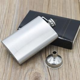 112mL (4oz) handige Narrow-versie gistingsfles draagbare RVS heupfles (met kleine Funnel)(Silver)