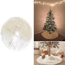 Kerstboom pluche rok wit ronde Ornament decoratie  Diameter: 90cm