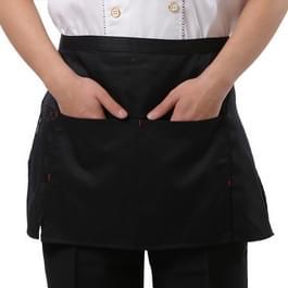 Eenvoudige stijl Unisex Chef ober Barista Half Apron(Black)